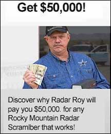 $50,000 Reward from Radar Roy